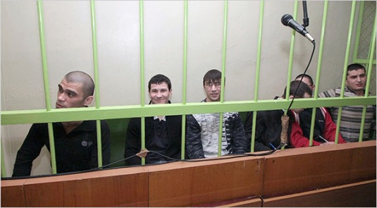 In Kazan, Russia, 12 defendants stand accused of membership in Hizbut Tahrir, which has been banned as a terrorist organization in Russia.